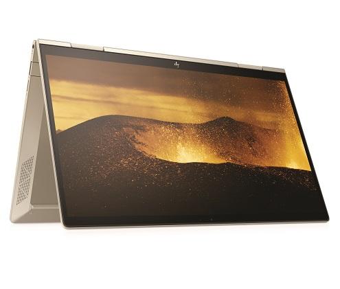 Počítač HP ENVY x360 13 v bledozlatom vyhotovení, ktorý je prvýkrát osadený procesormi Intel® Core™, sa perfektne hodí pre tvorivých pracovníkov, ktorí chcú tvoriť na cestách, podporuje dotykové pero HPMPP2.0 Tilt a disponuje batériou s výdržou až 12,75 hodiny