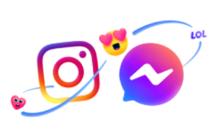 instagram and messenger logos