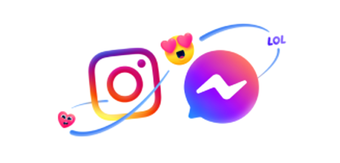 instagram and messenger logos
