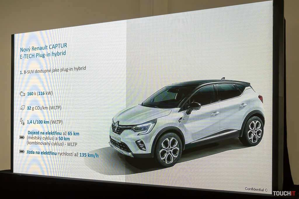 Hlavné parametre Renault Captur E-TECH Hybrid