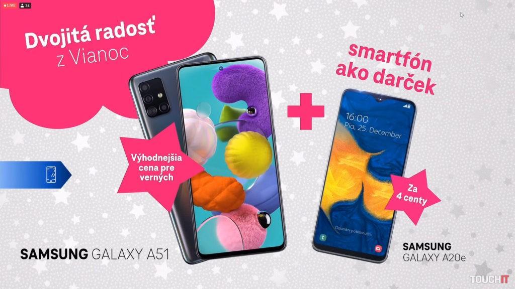 Ponuka klasických dvojičiek od Samsungu vo vianočnej ponuke Telekomu