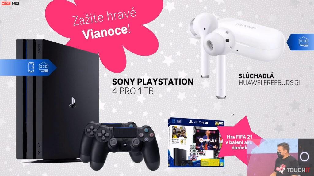 Sony Playstation 4 a slúchadlá Huawei na Vianoce od Telekomu