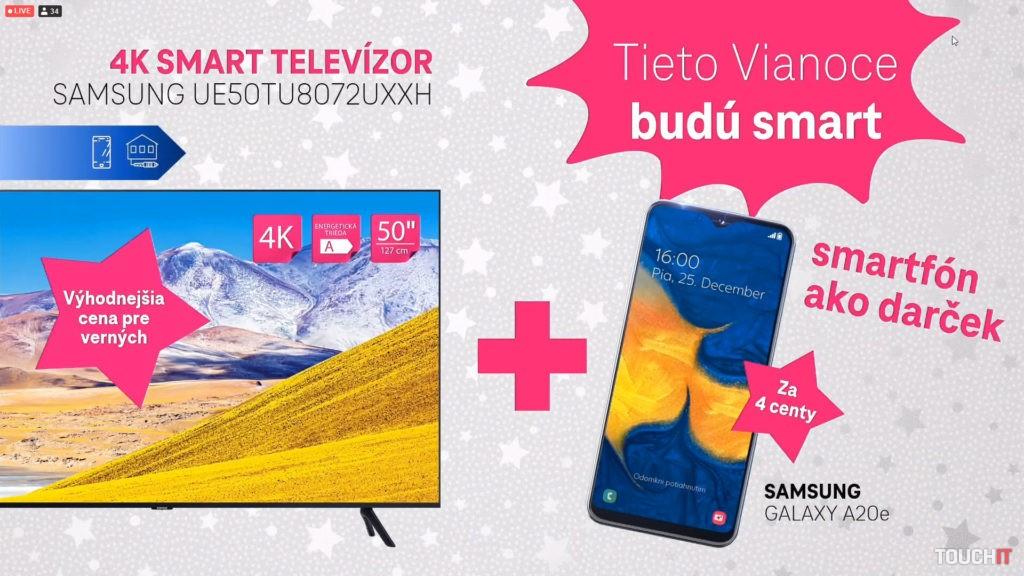 K SmartRTV teraz aj smartfón ako darček
