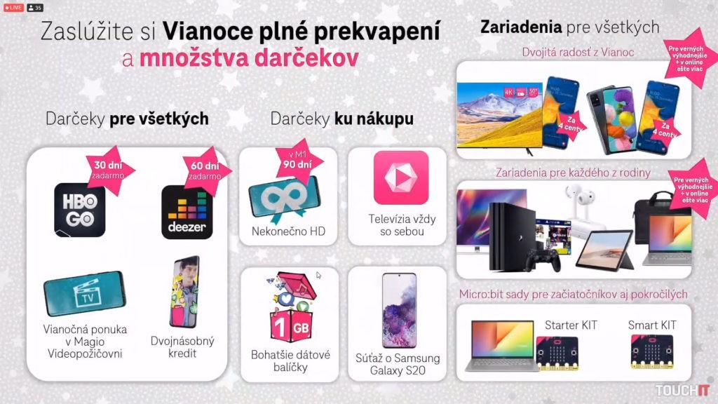 Vianočná ponuka Telekomu v kocke