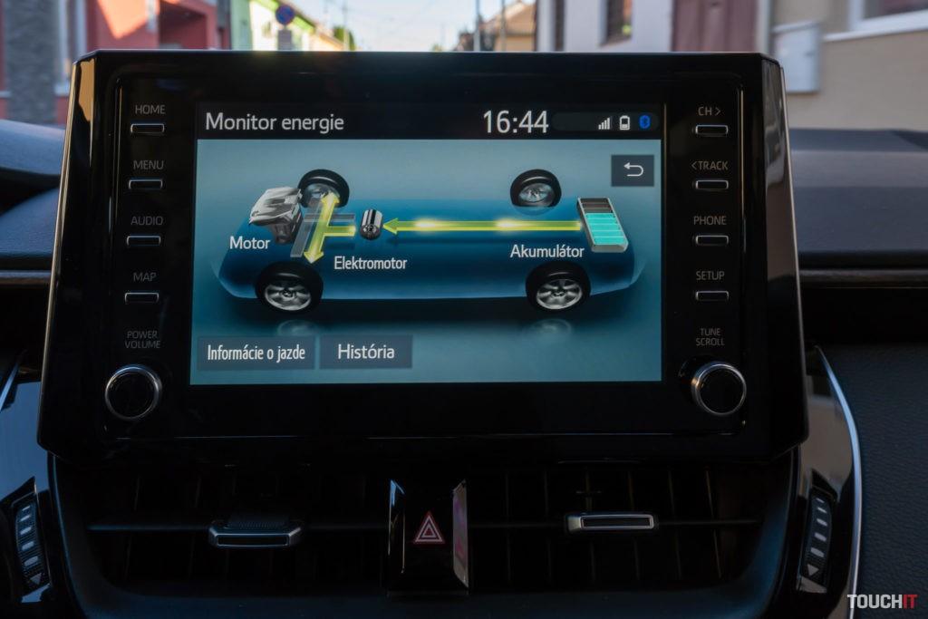 Systém na sledovanie rozloženia energie v Toyota Trek 2.0 Hybrid e-CVT
