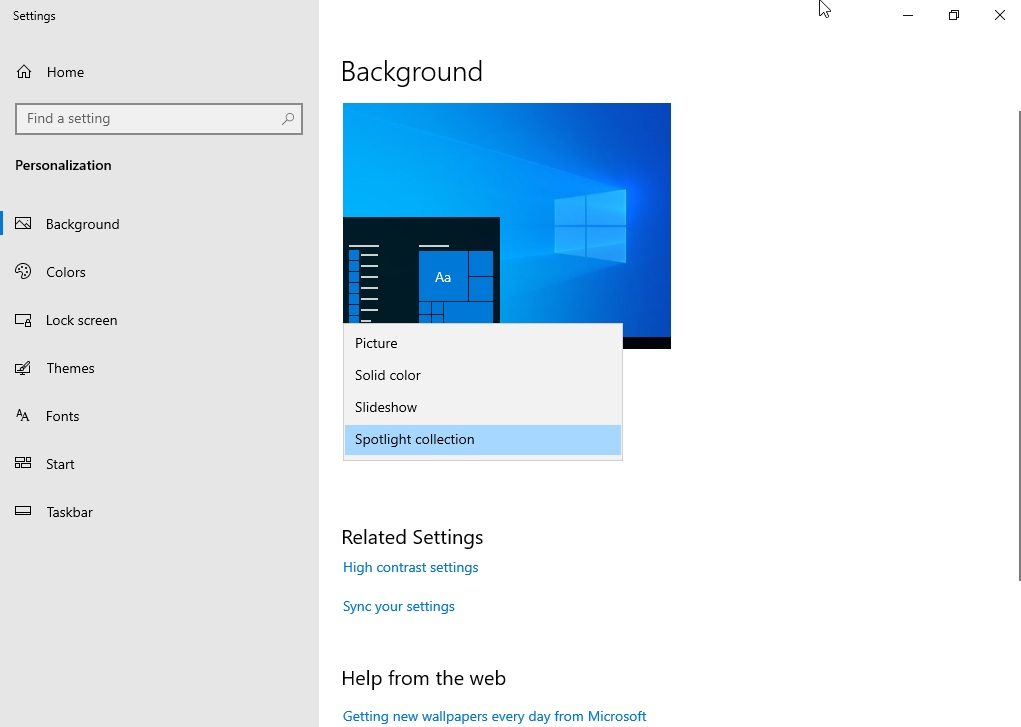windows spotlight