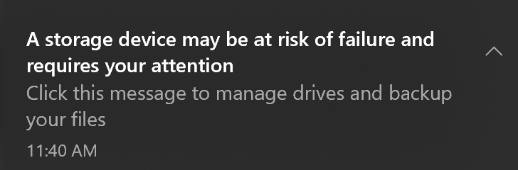 windows ssd health status