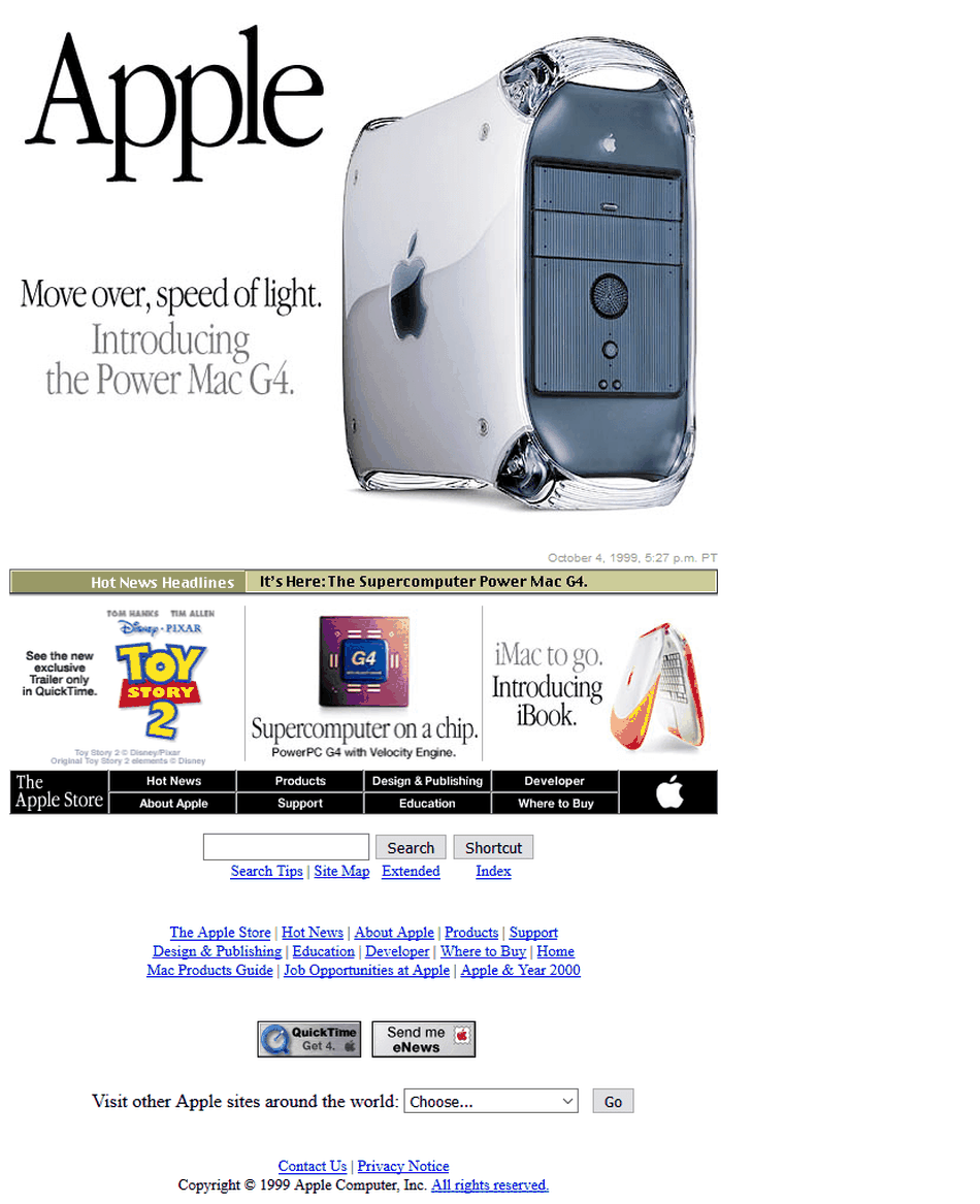 Apple v roku 1999