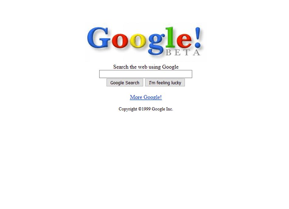 Google v roku 1999
