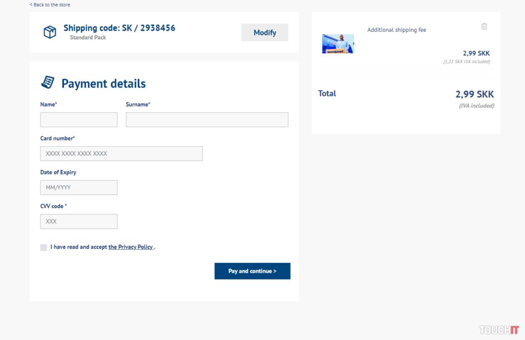 Podvody na internete - Slovenská pošta