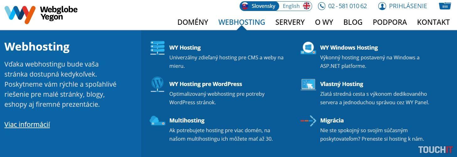 Viaceré spoločnosti vám predajú doménu aj webhosting