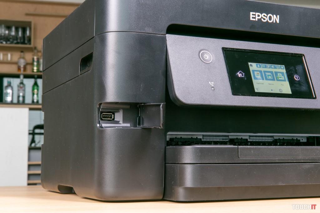 Predný USB port na Epson WorkForce 3820DWF