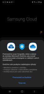 Namiesto Samsung Cloud je tu Microsoft OneDrive