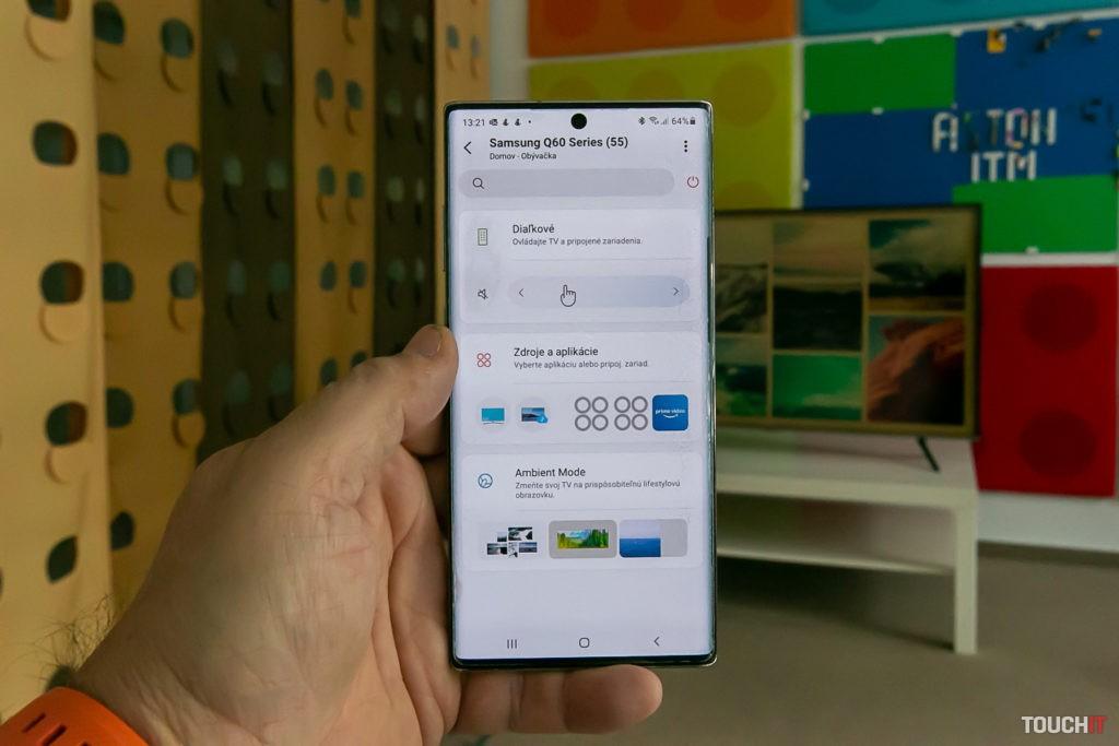 Galaxy Note ako diaľkový ovládač pre televízor