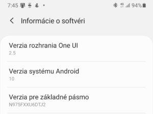 Aktuálna verzia požívateľskej nadstavby OneUI
