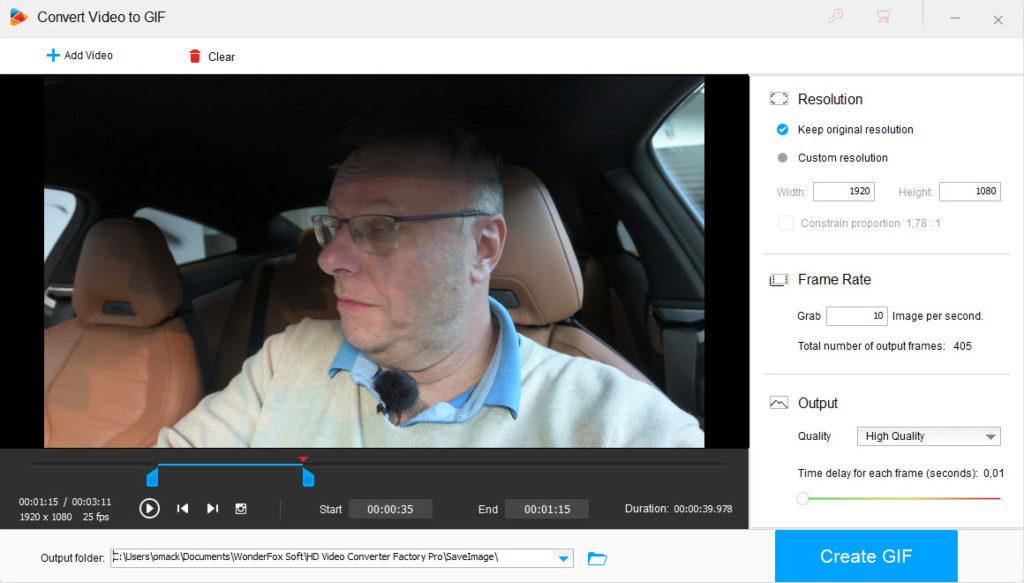 Tvorba GIF súboru z videa