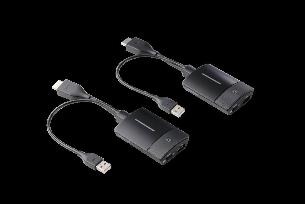 Dva vysielače PressIT s USB adaptérom sú priamo v dodávke