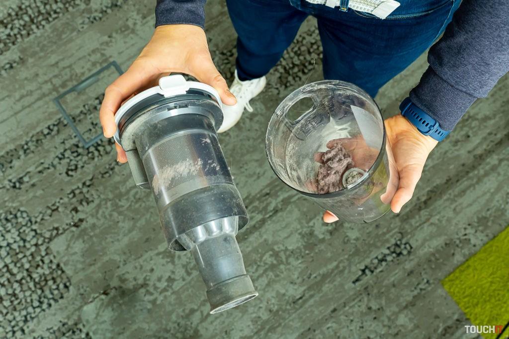 Invertorový motor a odpadová nádoba