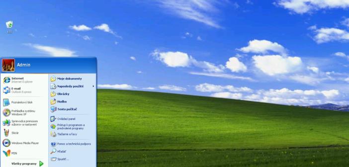 Windows XP, ktorého aktívna podpora trvala od roku 2001 do roku 2014