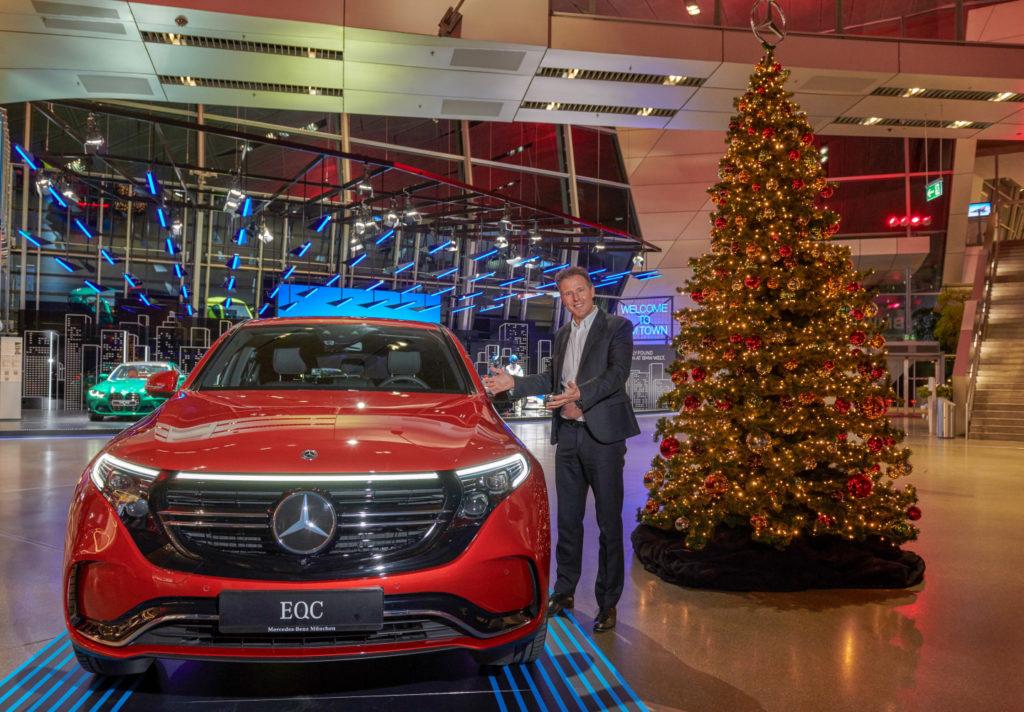 Mercedes_Benz EQC 400 vo výstavných priestoroch BMW Welt