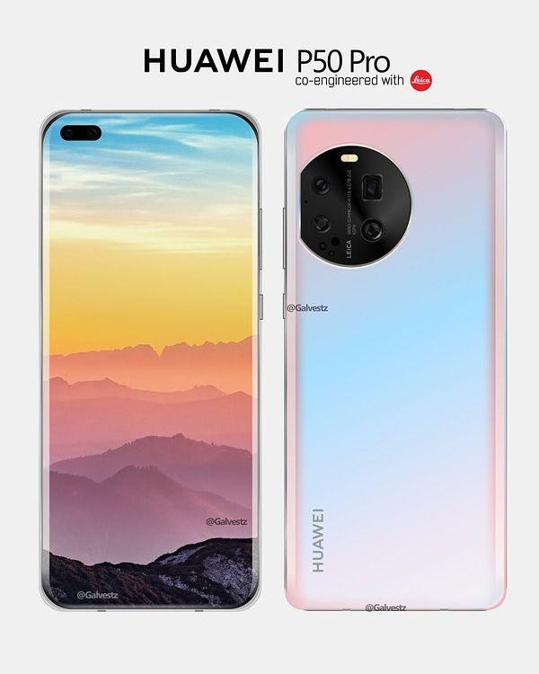Huawei P50 Pro, neoficiálny render
