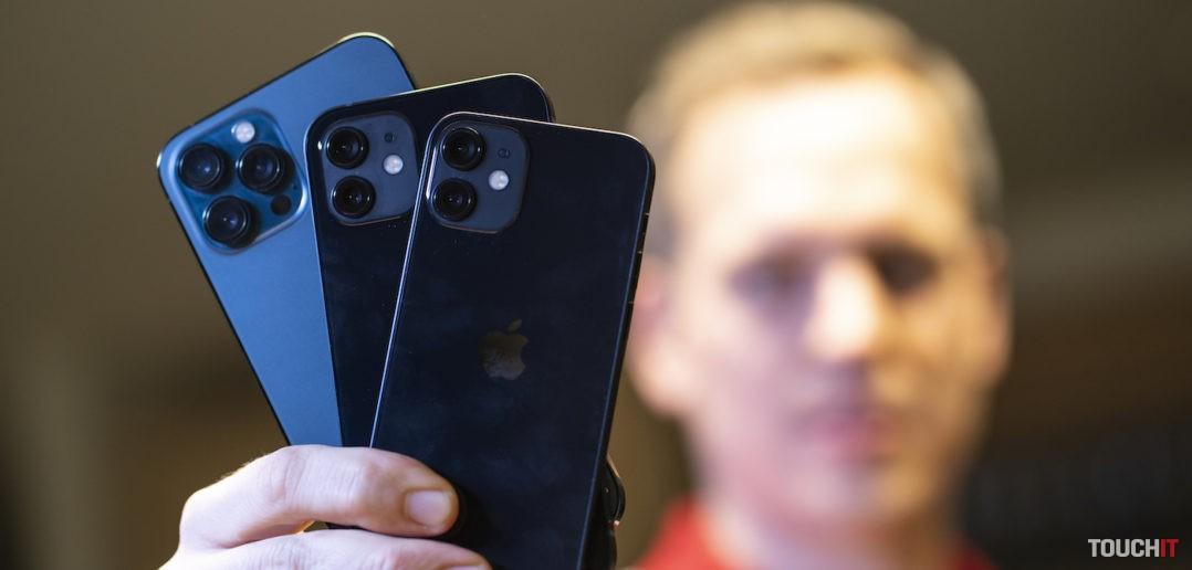 iPhone 12 mini, iPhone 12 a iPhone 12 Pro Max