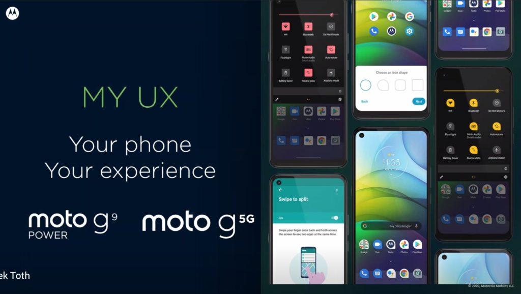Moto G9 Power a G 5G a ich rozhranie MY UX