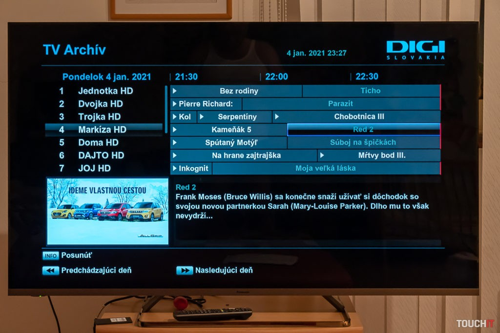 Výber odvysielanej televíznej relácie z Archívu