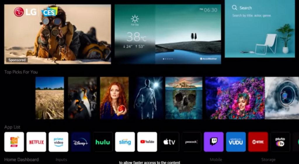 Nové používateľské prostredie v televízoroch LG