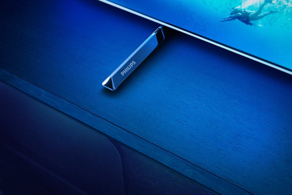 Dizajnové prvky podstavca na Philips OLED805