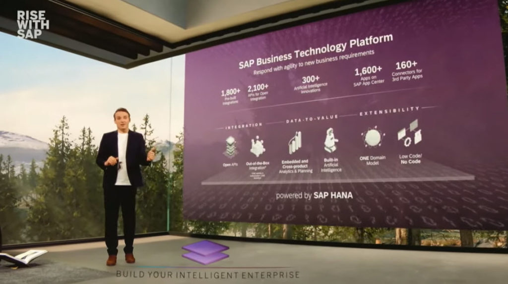 Technologická platforma RISE with SAP, Zdroj: SAP