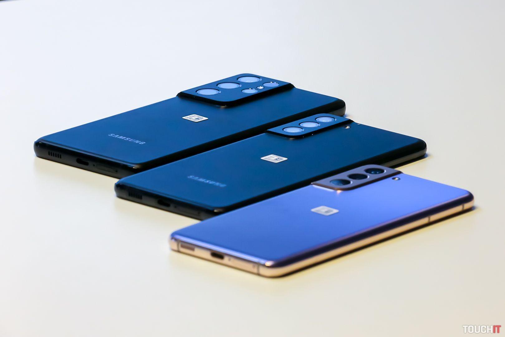Samsung Galaxy S21, S21+ a S21 Ultra