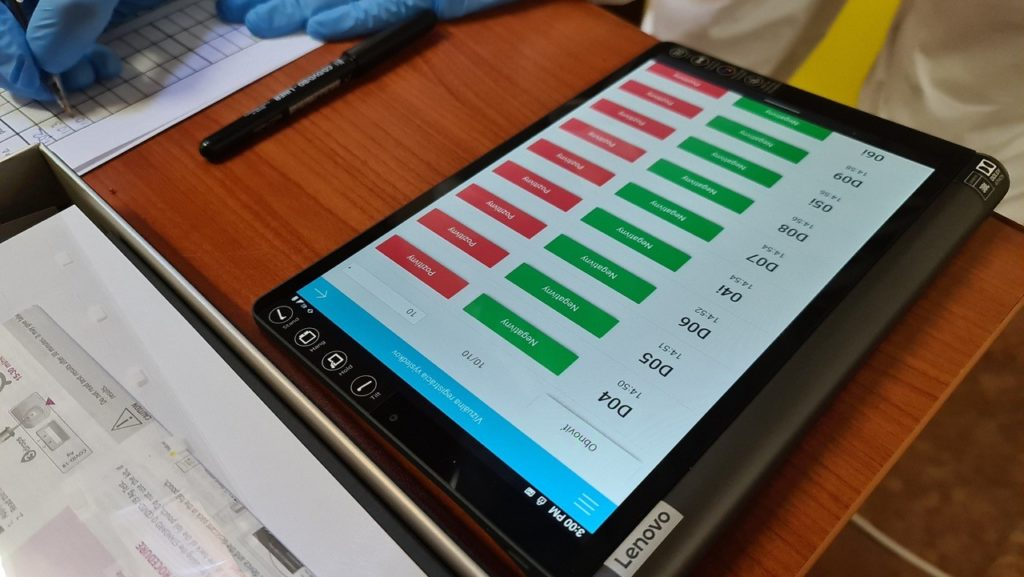 Evidencia výsledkov cez aplikáciu TrustOne