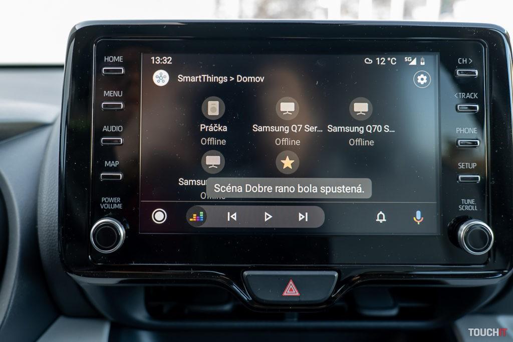 Spustená udalosť v SmartThings v Android Auto, Zdroj: Ondrej Macko/TOUCHIT.sk