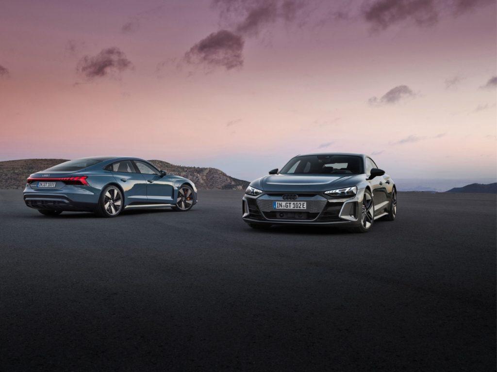 Audi e-Tron GT a RS e-Tron. Zdroj Audi