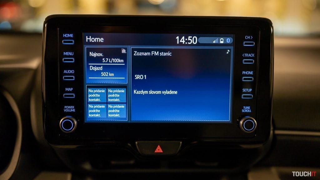 Multimediálna výbava na Toyota Yaris 1.5 Dynamic Force 125k, Zdroj: Ondrej macko/TOCHIT.sk