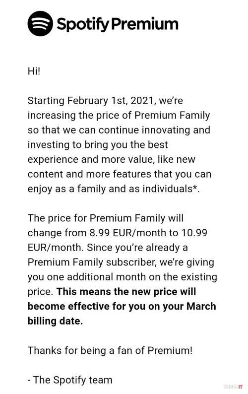 Spotify zdražilo predplatné Premium pre rodiny
