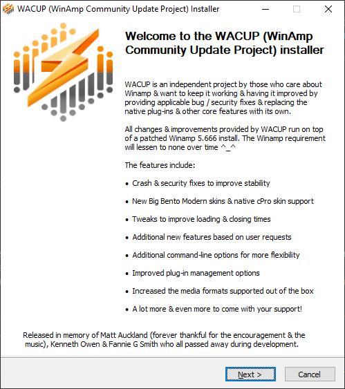 winamp wacup
