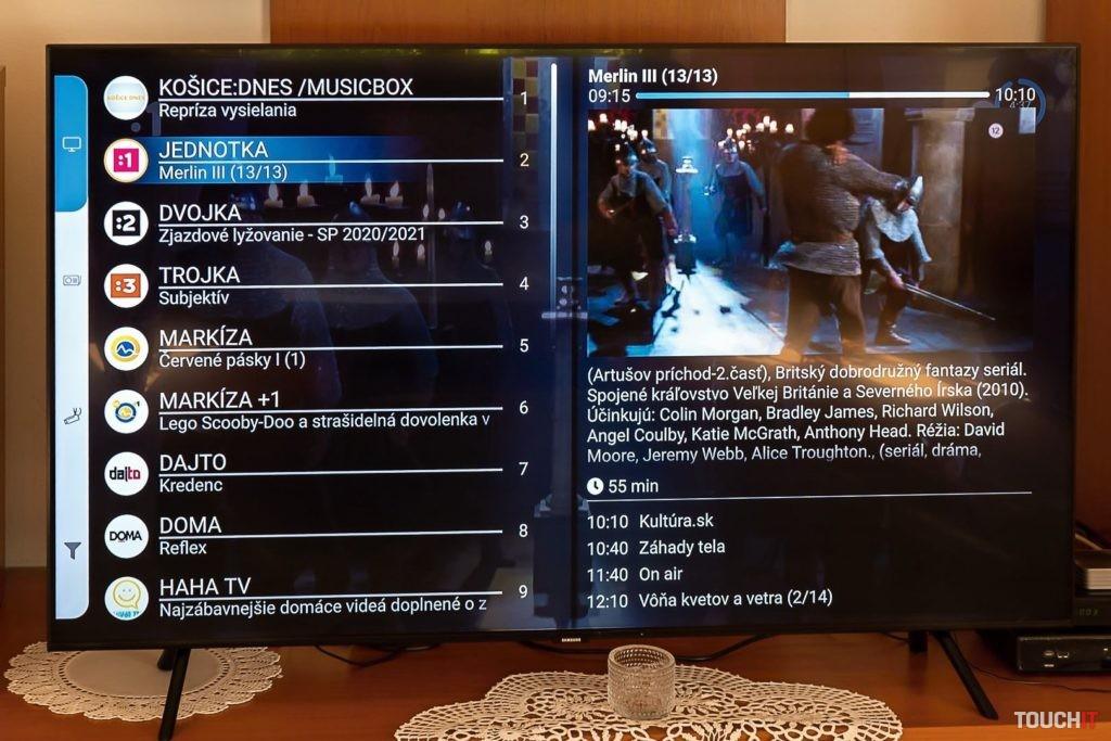 Elektronický programový sprievodca v Antik TV. Zdroj: Ondrej Macko/TOUCHIT.sk