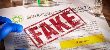 Falošný Covid certifikát