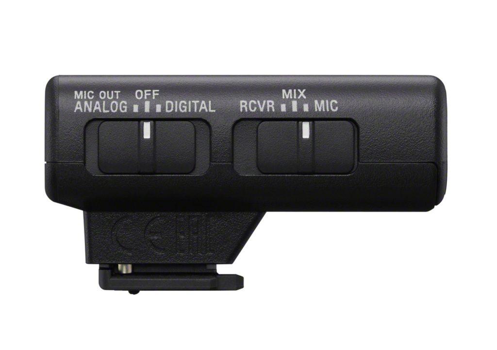Prijímač bezdrôtového mikrofónu Sony ECMW2BT. Zdroj: Sony
