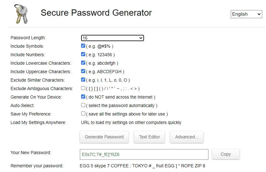 Generátor hesiel priamo na webe. Vymyslí heslo za vás
