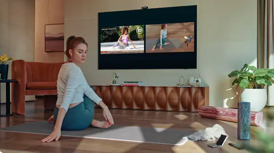 Šport pre televízorom s vyhodnotením cez AI a kameru