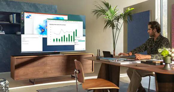 Práca z domu s využitím televízora
