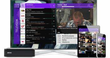 Satelitná TV so set-top boxom a možnosťou sledovania na smartfóne alebo tablete