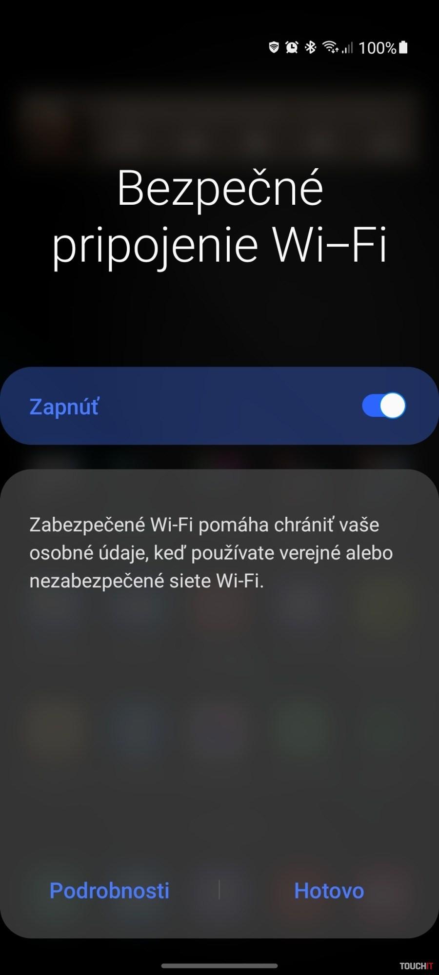 Samsung Bezpečné pripojenie Wi-Fi