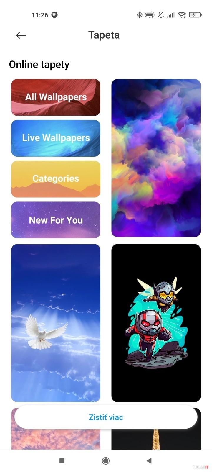 xiaomi wallpaper menu
