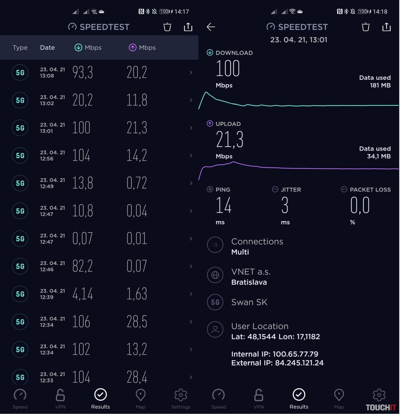 4ka 5G sieť v Bratislave