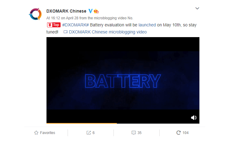 Dxomark testovanie batérií