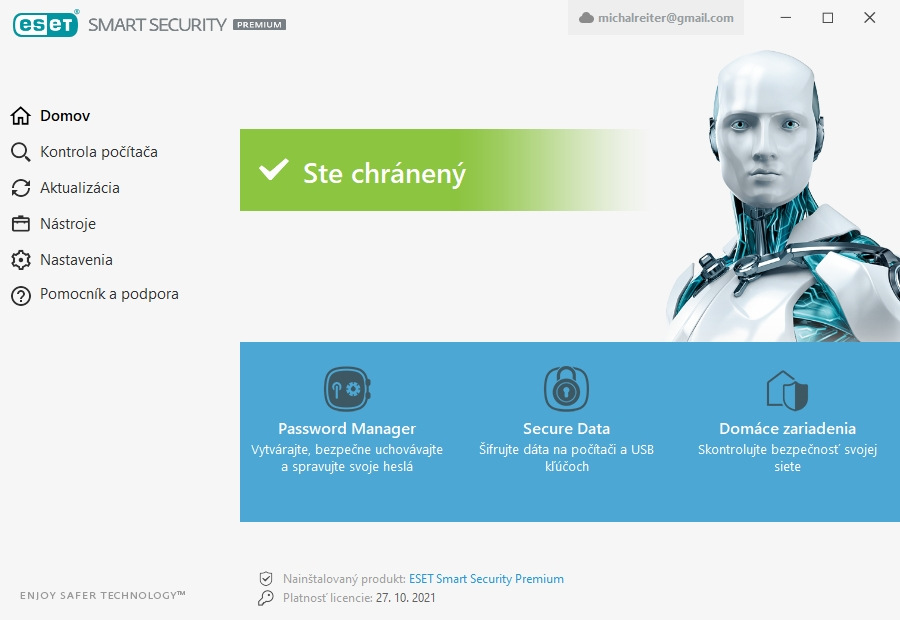 ESET Smart Security Premium v plnom nastavení ochrany